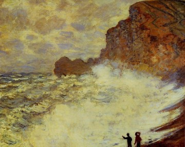 Stormy Weather at Etretat Claude Monet Oil Paintings