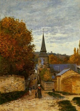 Monet Works - Street in SaintAdresse Claude Monet