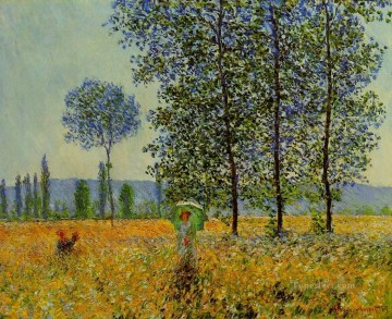 Sun Oil Painting - Sunlight Effect under the Poplars Claude Monet
