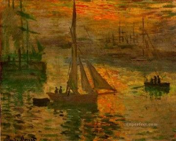 sunset sunrise Painting - Sunrise aka Seascape Claude Monet