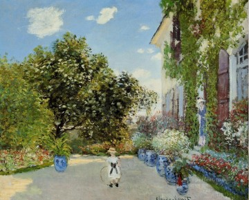 The Artist s House at Argenteuil Claude Monet Oil Paintings