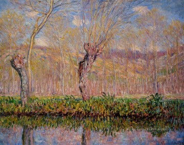 monet banks of the seine Painting - The Banks of the River Epte in Spring Claude Monet