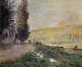 The Banks of the Seine Lavacour Claude Monet