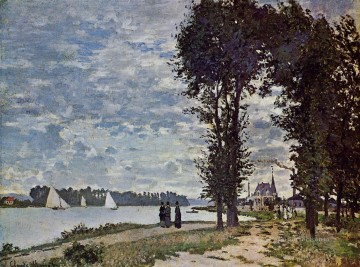 Argenteuil Canvas - The Banks of the Seine at Argenteuil Claude Monet