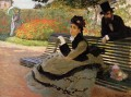 The Beach aka Camille Monet on a Garden Bench Claude Monet