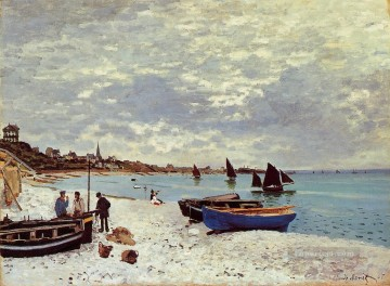 beach Art - The Beach at Sainte Adresse Claude Monet