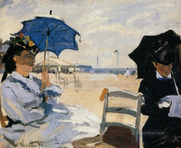 beach Art - The Beach at Trouville Claude Monet