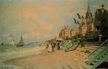 beach Art - The Beach at Trouville II Claude Monet