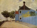 The Blue House at Zaandam Claude Monet