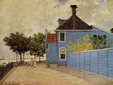 The Blue House at Zaandam Claude Monet Oil Paintings