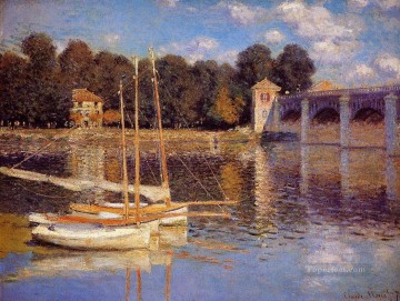 Argenteuil Canvas - The Bridge at Argenteuil Claude Monet