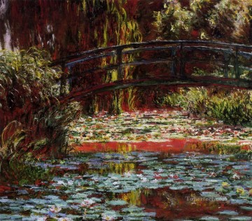 Lily Painting - The Bridge over the Water Lily Pond Claude Monet