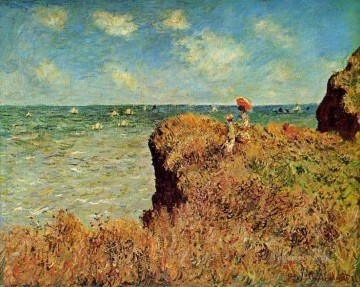 The Cliff Walk Pourville Claude Monet Oil Paintings