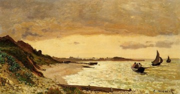 Sainte Painting - The Coast at SainteAdresse Claude Monet