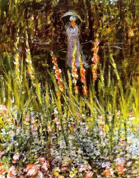 garden Oil Painting - The Garden Gladioli Claude Monet