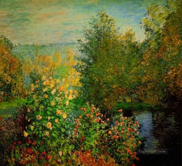 garden Oil Painting - The Hoschedes Garden at Montgeron Claude Monet