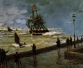 The Jetty of Le Havre in Rough Westher II Claude Monet