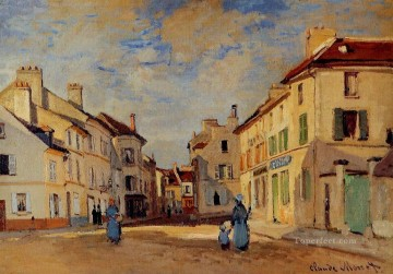 Argenteuil Canvas - The Old Rue de la Chaussee Argenteuil II Claude Monet