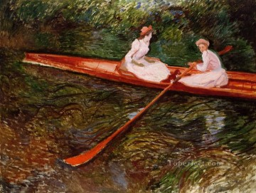 The Pink Skiff Claude Monet Oil Paintings
