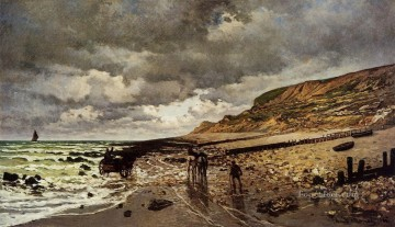 The Pointe de la Heve at Low Tide Claude Monet Oil Paintings