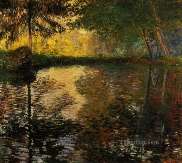 Claude Art - The Pond at Montgeron II Claude Monet