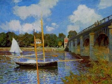 Argenteuil Canvas - The Road Bridge at Argenteuil III Claude Monet