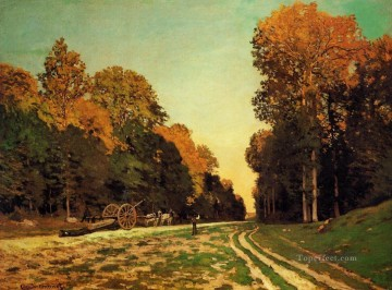 The Road from Chailly to Fontainebleau Claude Monet Oil Paintings