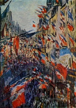 Monet Oil Painting - The Rue Saint Denis Claude Monet