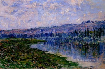 mornings on the seine monet Painting - The Seine and the Chaantemesle Hills Claude Monet