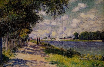 Argenteuil Canvas - The Seine at Argenteuil Claude Monet