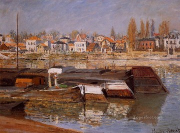 asnieres oil painting - The Seine at Asnieres Claude Monet
