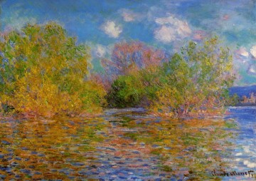 The Seine near Giverny Claude Monet 2 Oil Paintings