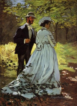 The Strollers study for Luncheon on the Grass Claude Monet Oil Paintings