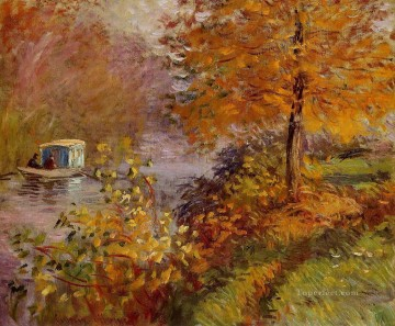 The Studio Boat Claude Monet Oil Paintings