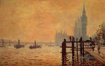 The Thames below Westminster Claude Monet Oil Paintings