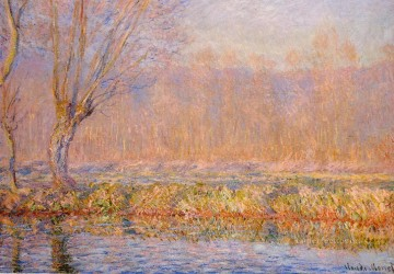 monet weeping willow Painting - The Willow aka Spring on the Epte Claude Monet