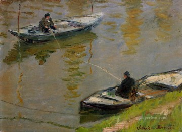 Two Anglers Claude Monet Oil Paintings