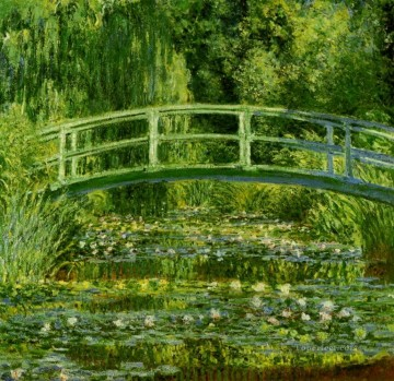 monet water lily lilies waterlily waterlilies Painting - Water Lily Pond 1897 Claude Monet
