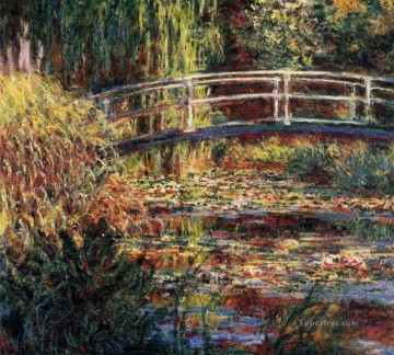 Lily Painting - Water Lily Pond Symphony in Rose Claude Monet