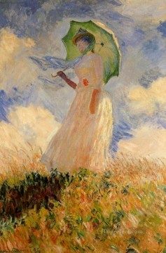 Monet Oil Painting - Woman with a Parasol Claude Monet