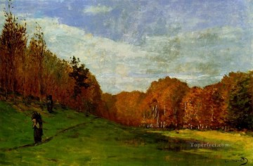 Woodbearers in Fontainebleau Forest Claude Monet Oil Paintings