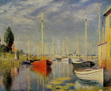 Argenteuil Canvas - Yachts at Argenteuil Claude Monet