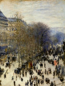 Monet Oil Painting - Boulevard des Capucines Claude Monet