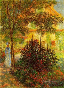 Argenteuil Canvas - Camille Monet in the Garden at the House in Argenteuil Claude Monet