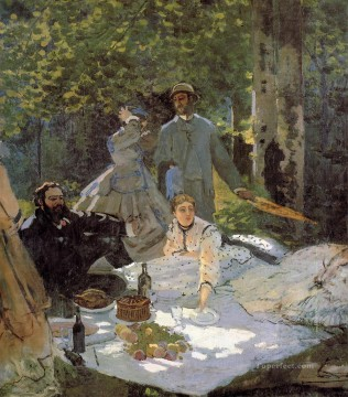 Claude Monet Painting - Luncheon on the Grass Center Panel Claude Monet