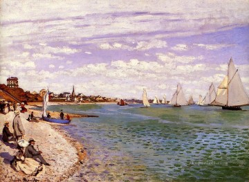 Sainte Painting - Regatta at SainteAdresse Claude Monet