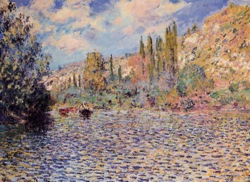 mornings on the seine monet Painting - The Seine at Vetheuil Claude Monet 2