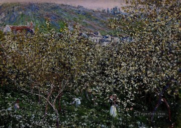 Vetheuil Flowering Plum Trees Claude Monet Oil Paintings