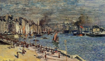 View of the Old Outer Harbor at Le Havre Claude Monet Oil Paintings