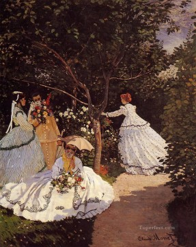 Women in the Garden Claude Monet Decor Art